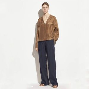 Vince Pleat Front High Rise Pull On Pant Viscose